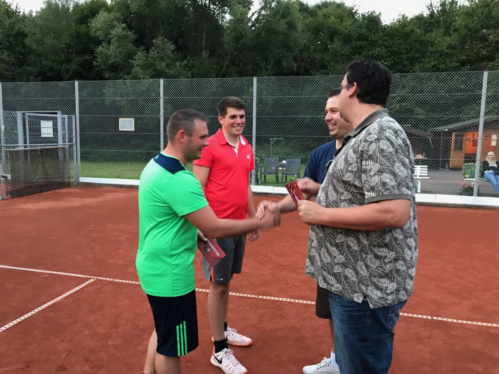 Marc Hannes und Michael Neuss - Clubmeister 2017 im Doppel