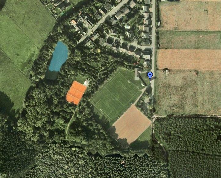 Unsere Tennisanlage in der Schlicher Heide von oben